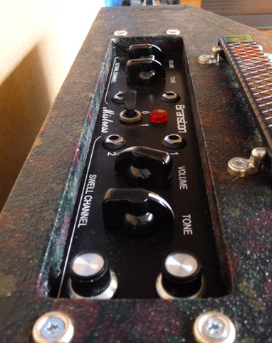 Branston Mistress Amplifier, Donna, control panel.